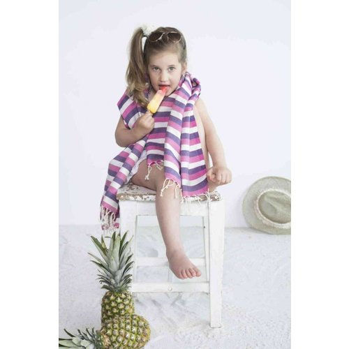 Call it Fouta! kids hamamdoek multi purple pink