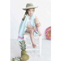 kids hamamdoek light blue pink