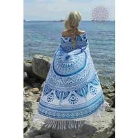 Roundie Gypsy Spring blue fringes