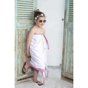 PURE Kenya kikoy kinder strandlaken Blanchi pink