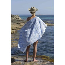Call it Fouta! hamamdoek Aztec blue