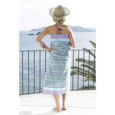 PURE Kenya kikoy handdoek busia mixed stripes blue