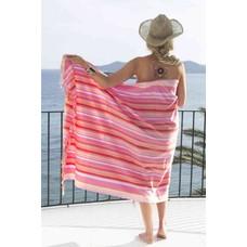 PURE Kenya kikoy handdoek Ambosili stripes orange