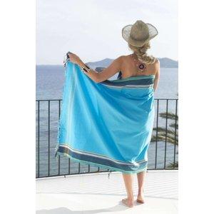 PURE Kenya kikoy handdoek Jambo blue