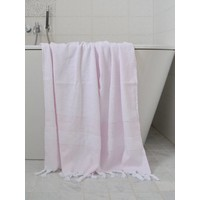 hamamdoek met badstof roze