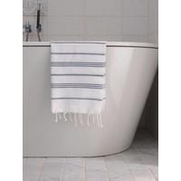 hamam handdoek wit/zwart