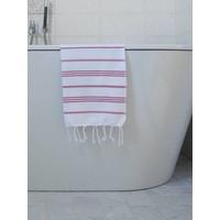 hamam handdoek wit/cerise
