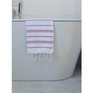 Ottomania hamam handdoek wit/cerise
