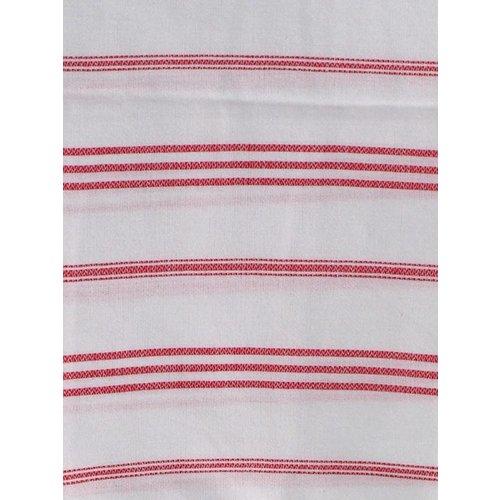 Ottomania hamam handdoek wit met robijnrode strepen 100x50cm