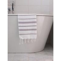 hamam handdoek wit/aubergine