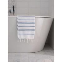 hamam handdoek wit/jeansblauw