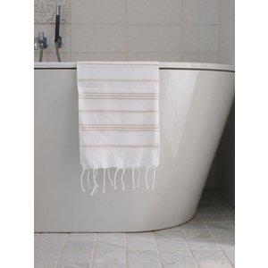 Ottomania hamam handdoek wit/beige
