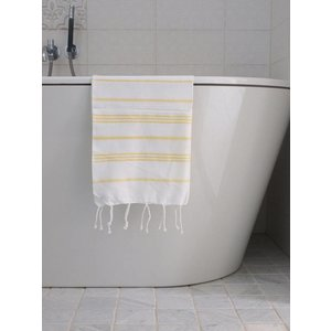 Ottomania hamam handdoek wit/geel