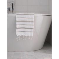 hamam handdoek wit/olijfgroen