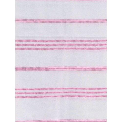 Ottomania hamam handdoek wit met sorbetroze strepen 100x50cm