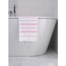Ottomania hamam handdoek wit/sorbetroze