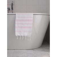 hamam handdoek wit/roze