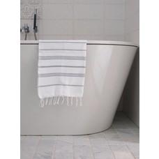 Ottomania hamam handdoek wit/grijs