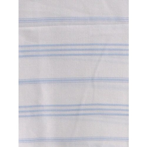 Ottomania hamam handdoek wit met lichtblauwe strepen 100x50cm