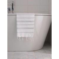 hamam handdoek wit/lichtgrijs