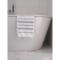 hamam handdoek wit/donkerpaars