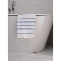 hamam handdoek wit/blauw