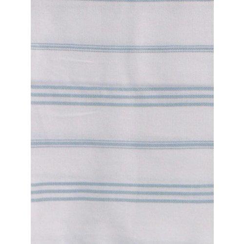 Ottomania hamam handdoek wit met zeegroene strepen 100x50cm