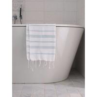 hamam handdoek wit/zeegroen