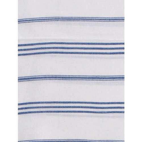 Ottomania hamam handdoek wit met parlementblauwe strepen 100x50cm