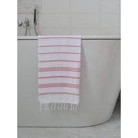 hamam handdoek wit/steenrood