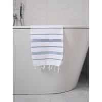 hamam handdoek wit/petrol