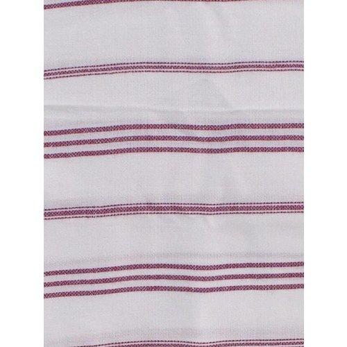 Ottomania hamam handdoek wit met framboos strepen 100x50cm