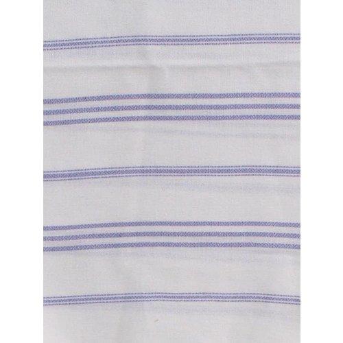 Ottomania hamam handdoek wit met lila strepen 100x50cm