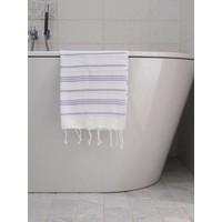 hamam handdoek wit/lila