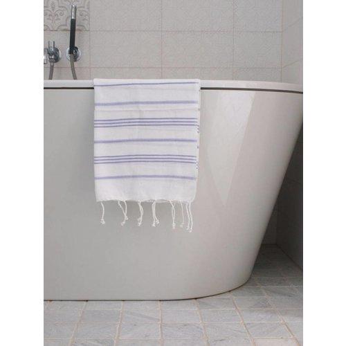 Ottomania hamam handdoek wit/lila