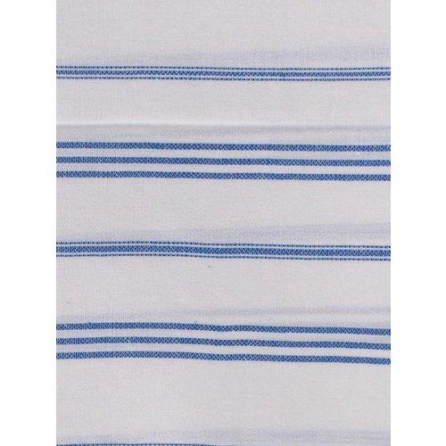 Ottomania hamam handdoek wit met grieksblauwe strepen 100x50cm