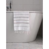 hamam handdoek wit/grijsbeige