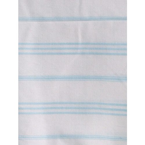 Ottomania hamam handdoek wit met lichtturquoise strepen 100x50cm