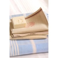 scrubwashand linnen met opdruk