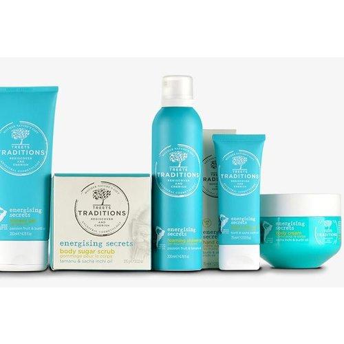 Treets Energising Secrets bath fizzers passion fruit & tamanu oil