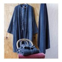 petrol kimono badjas S