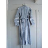hamam badjas jeansblauw