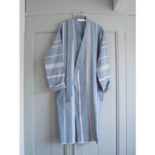 Ottomania hamam badjas jeansblauw
