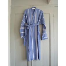 Ottomania badjas Hamam grieksblauw M/L