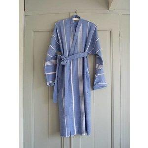 Ottomania hamam badjas grieksblauw