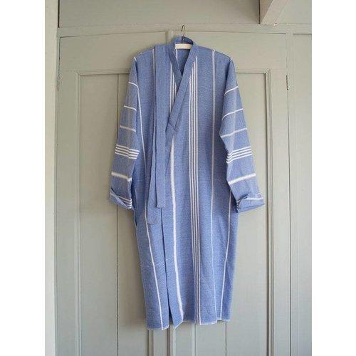 Ottomania hamam badjas grieksblauw maat M/L