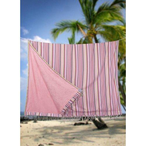 PURE Kenya kikoy XL strandlaken candy stripes pink
