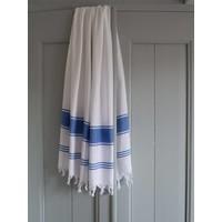 hamamdoek Honingraat wit/grieksblauw