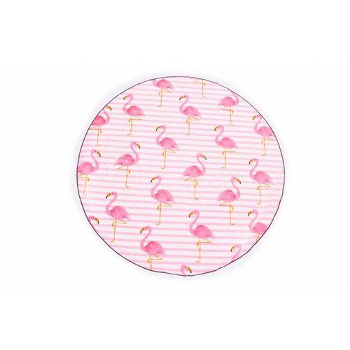 Call it Fouta! Roundie Gypsy Flamingo pink fringe Ø 175cm