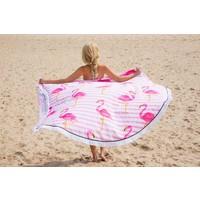 Roundie Gypsy Flamingo pink fringe